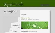 Abbildung der Website Aquamunda.
