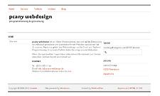 Abbildung der Website von pcany webdesign.