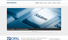 Abbildung der Website von Opal Software.