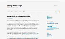 Abbildung der Website pcany webdesign