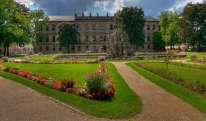 Schlossgarten in der Innenstadt.